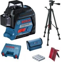 Bosch GLL 3-80 Professional křížový laser plus stativ BT 150  0.615.994.0KD